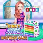 JUGAR VINCY COOKING RAINBOW BIRTHDAY CAKE